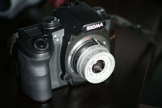Sigma sd14 with T43 Lomo Smena lens