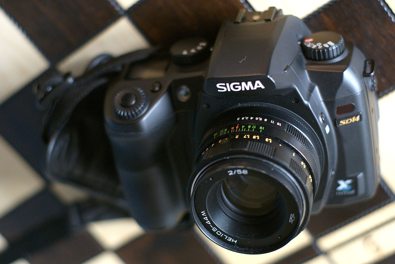 Sigma sd14 with Helios-44m