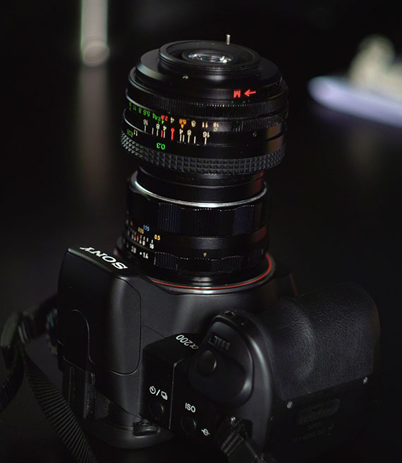 Lens stacking with sony a200, takumar 50mm, vivitar 28mm