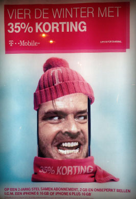 T-Mobile advertisement with Jack Nicholson